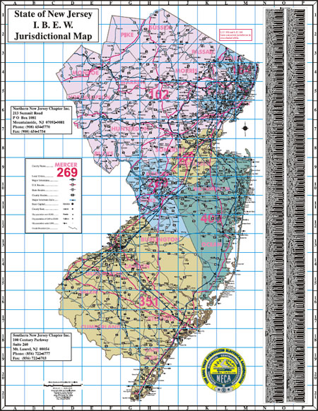 Image State of New Jersey IBEW Jurisdictional map